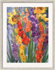 """Bild """"Gladiolen und Sonnenblumen"""" (2012), gerahmt"""