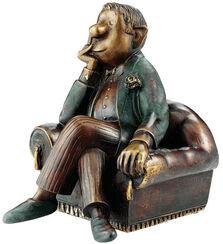 "Skulptur ""Herr im Sessel"", Bronze"