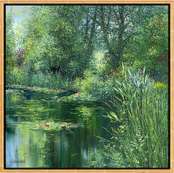 "Bild ""L'étang à Giverny"", gerahmt"