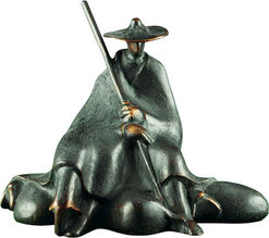 "Skulptur ""Sitzender Schäfer"", Bronze"
