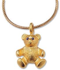 """Teddy-Collier """"Mein bester Freund"""", Version vergoldet"""