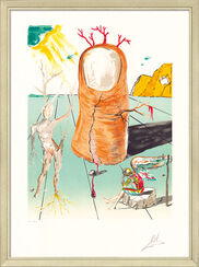 """Bild """"Retrospect. II: La vision del Angel del Cap d'Creus"""", gerahmt"""