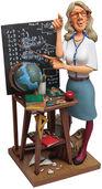 "Karikatur ""Die Lehrerin"", Kunstguss handbemalt"
