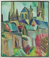 "Bild-Studie ""Die Türme von Laon"" (1912), gerahmt"