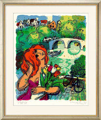 "Bild ""By the canal"" (1995), ungerahmt"