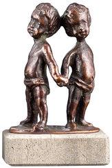 """Sternzeichen-Skulptur """"Zwilling"""" (21.5.-21.6.), Metallguss"""