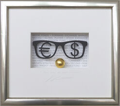 """3D-Bild """"Money makes the world go around"""", gerahmt"""