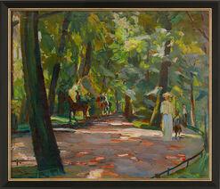 """Bild """"Ausritt im Englischen Garten"""" (1910), gerahmt"""