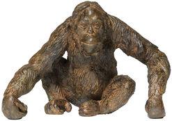 "Skulptur ""Orang Utan"", Metallguss"