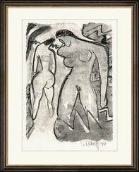 """Bild """"Am Gebüsch"""" (1914), gerahmt"""