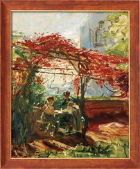 """Bild """"Weinlaube in Neukastel"""" (1917), gerahmt"""