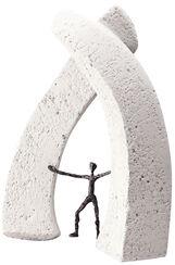 """Skulptur """"Neue Dimensionen eröffnen"""", Bronze und Steinguss"""