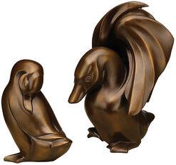 """Skulpturenpaar """"Ente und Erpel"""", Version in Kunstbronze"""