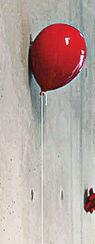 "Wandobjekt ""Ballon rot"", Keramik"