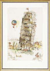 """Bild """"Pisa"""" (1997), gerahmt"""