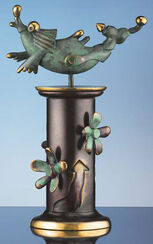 """Skulptur """"Der Delphin"""" (2005), Version in Bronze"""