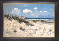 """Bild """"Am Strand von Hornbaek"""", gerahmt"""