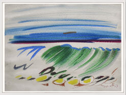 "Bild ""Farbige Kalligraphie"" (1987) (Unikat)"