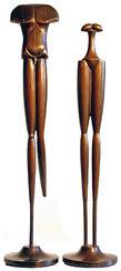 """Skulpturenpaar """"Liaison"""", Bronze"""