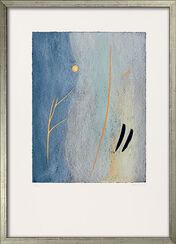 """Bild """"Winter"""" (2006) - aus Bilderzyklus """"Vier Jahreszeiten"""", gerahmt"""