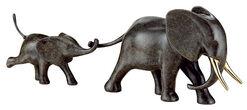 """Skulptur """"Elefant mit Baby"""", Bronze"""