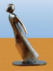 """Skulptur """"Mit aller Kraft"""", Bronze"""