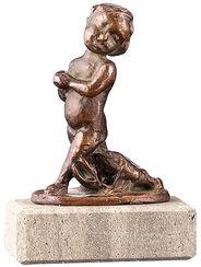 """Sternzeichen-Skulptur """"Krebs"""" (22.6.-22.7.), Metallguss"""