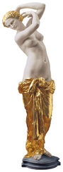 "Skulptur ""La Toilette de Venus"" (1855), Kunstmarmor teilvergoldet"