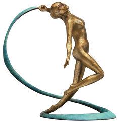 "Skulptur ""Schleiertänzerin"", Bronze"