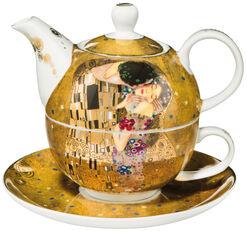 """Teekanne mit integrierter Tasse """"Der Kuss"""", Porzellan"""