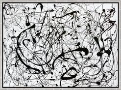 "Bild ""Number 14: Gray"" (1948), gerahmt"