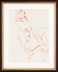 """Bild """"Geliebtes Mädchen"""" (1980), gerahmt"""