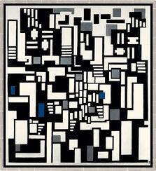 "Bild ""Komposition IX, Opus 18 (Abstraktion der Kartenspieler)"", 1917, gerahmt"