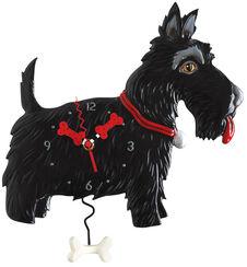 """Wanduhr """"Dog"""", Kunstguss handbemalt"""