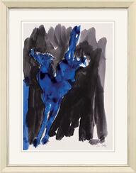 "Bild ""Pferd blau"" (2009)"