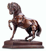 "Skulptur ""Stampfendes Pferd"" (Originalgröße), Kunstbronze"