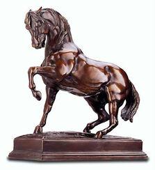 """Skulptur """"Stampfendes Pferd"""", Reduktion in Kunstbronze"""