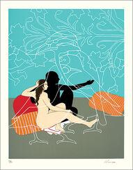 """Bild """"Gardens of Delight"""" (2003), gerahmt"""