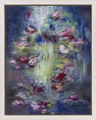 """Bild """"Blüten am Fluss V"""" (2016) (Unikat)"""