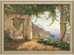 "Bild ""View to the Amalfi Coast"", gerahmt"