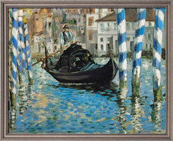 "Bild ""Canal Grande in Venedig"" (1874), gerahmt"