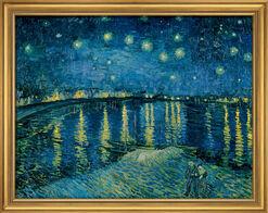"""Bild """"Sternennacht über der Rhône"""" (1888), gerahmt"""