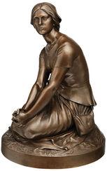 """Skulptur """"Jeanne d'Arc"""" (um 1880), Version in Bronze"""