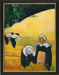 """Bild """"Die Ernte"""" (1888), gerahmt"""