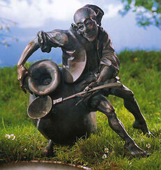 """Brunnenobjekt """"Gobi"""", Version in Bronze"""