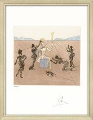 """Bild """"Don Quijote - Mandrino"""" (1981), gerahmt"""