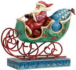 """Weihnachtsschlitten """"Die Bescherung"""", Kunstguss"""