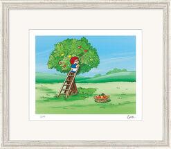 """Bild """"Traum unterm Apfelbaum"""", gerahmt"""