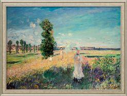 "Bild ""La Promenade (Der Spaziergang, Argenteuil)"" (1875), gerahmt"