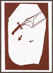 """Bild """"Elch in der Strömung"""" (1984)"""